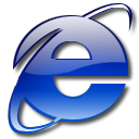 Browser, internet explorer Black icon