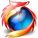 web, Firefox, Browser Black icon