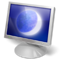 Desktop, monitor, screen, Eclipse DarkGray icon