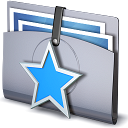 star, Favorites, Folder Silver icon