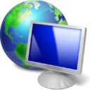 screen, Computer, web, monitor, earth, pc, Browser, internet Black icon