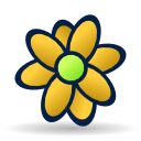 Flower, icq Yellow icon