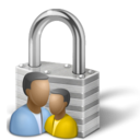 Lock, register, login, security, manager, private Silver icon