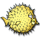 Openbsd, fish Black icon