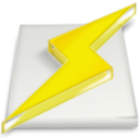 power, lightning, Winamp Gold icon