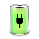 plugged, Battery Black icon