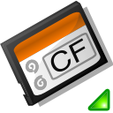 Compact, mount, Flash Black icon