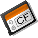 unmount, Flash, Compact Black icon