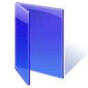 Folder, open, Blue Icon