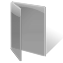 Folder, gray, open Gray icon