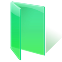 Folder, open, green SpringGreen icon