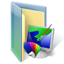 Pictures, Folder Black icon