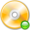 mount, Cdwriter Orange icon