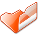 open, Folder, Orange Black icon