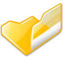 open, yellow, Folder Black icon