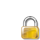 secure, Lock, password Goldenrod icon