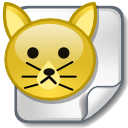 File, Animal, Cat Goldenrod icon