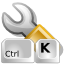 Configure, shortcuts Silver icon