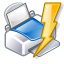quick, lightning, power, Print Silver icon