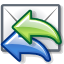 replyall, mail DimGray icon
