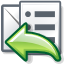 replylist, mail DimGray icon