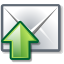 send, mail, green DimGray icon