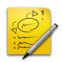 Paper note Gold icon
