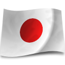 flag, japan Silver icon