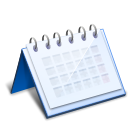 Office calendar AliceBlue icon