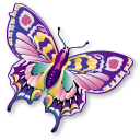 papillon, Animal, Staroffice, butterfly, summerbird Black icon