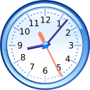 Clock, time Lavender icon