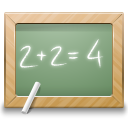 Blackboard, calculate, school, math, education DarkSeaGreen icon