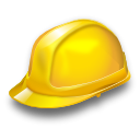 equipment, job, industry, worker, safety, helmet, hat, Building Gold icon