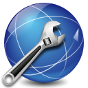 internet, tools, Firewall, network, Connection, preferences SteelBlue icon