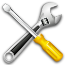 Wrench, settings, Kit, tools Black icon