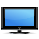 Tv, television, Flat screen, hdtv, lcd CornflowerBlue icon