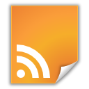 document, feed, Rss, File Goldenrod icon