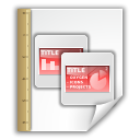 template, Opendocument presentation WhiteSmoke icon