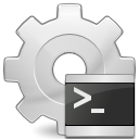 script, Application, executable LightGray icon
