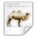 perl, Camel WhiteSmoke icon