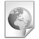 document, internet, world, earth DarkSlateGray icon