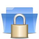 Folder, locked CornflowerBlue icon
