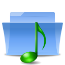 Folder, sound CornflowerBlue icon
