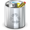 Trash, Full, recycle bin DarkGray icon