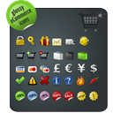 pack, ecommerce, glossy DarkSlateGray icon