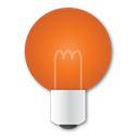 bulb, red Chocolate icon