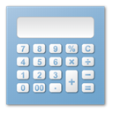Blue, calculator SkyBlue icon
