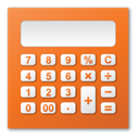 red, calculator Chocolate icon