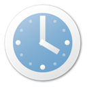 Blue, Clock SkyBlue icon