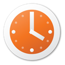 red, Clock Chocolate icon